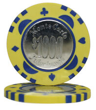 100pcs Monte Carlo Coin Inlay Poker Chips $1000