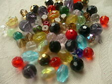 120 Mixed Lots Glass Faceted Round Beads  4mm - 10mm Great Colours 75g+