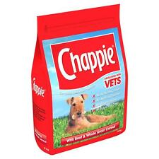 Chappie Dry Beef And Wholegrain Cereal 3kg Complete Dog Food NO DAIRY EGGS ETC