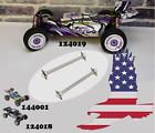 2Pcs Rear Driveshaft Dogbone WLtoys 144001 124018 124019 -1281 Metal Spare Parts