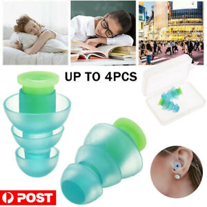 Reusable Soft Silicone Ear Plugs Noise Cancelling Hearing Protector Study Sleep