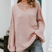 1X NWT Boutique Plus Size Boho Cozy Oversized Blush Cuffed Sweater Women's USA