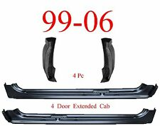 99 06 4Pc X-Cab X-Rocker & Extended Cab Corners, Chevy, GMC, 4 Door