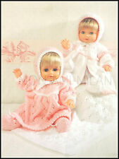 Knitting Pattern Dolls Clothes • Dress Coat Bonnet Blanket  Prem Baby Tiny Tears