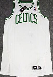 MEN-NWT-XL BLANK BOSTON CELTICS WHITE AUTHENTIC NBA PRO CUT ADIDAS JERSEY