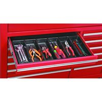 New 6 Compartment Drawer Organizer Plastic Toolbox Desk Us Seller