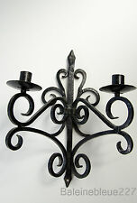 Old French Provence Wrought Iron Gothic Medieval Sconce Castle Candleholder