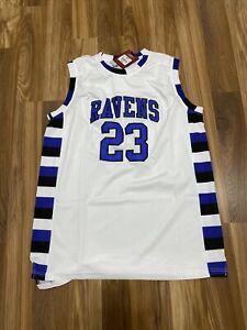 One Tree Hill Nathan Scott #23 Ravens White XXL Men's Basketball Jersey