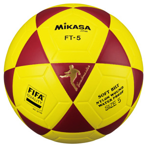 Mikasa FT5 Goal Master FIFA Soccer Ball Foot volley ball size 5 Red-Yellow