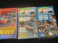 Lot of 3 STOCK CAR FEVER VHS 1998 National Geographic Jeff Gordon Nascar j124