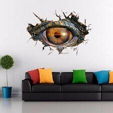 3D Big Dinosaur's Eye Wall Sticker Art Decor Decal PVC Home Room Door Mural Prop