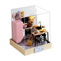 DIY Doll House Wood Miniature Dollhouse Furniture Kit Educational Toys (1)