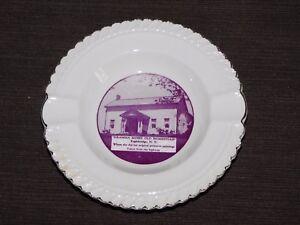 "VINTAGE 5 1/4"" ACROSS GRAMMA MOSSES OLD HOMESTEAD EAGLEBRIDGE NY CERAMIC ASHTRAY"