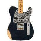 Fender Brad Cachemire Esquire Guitare Électrique, Noir Sparkle, Maple Col (Neuf) for sale