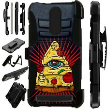 Luxguard For MicroMax T55 Phone Case Holster Stand Cover  PIZZA EYE