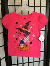 Halloween Girl's Toddler Size 24 Month Pink Short Sleeve Graphic Tee Shirt NWT