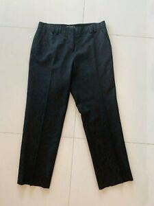 Etro Black Paisley Viscose & Cotton Ankle Pants SZ Italy 42  US SZ 4 - 6 S