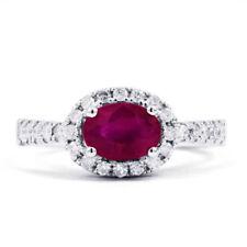 Anelli di lusso con gemme rosa naturale di zaffiro
