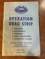 1956 NHRA Drag Strip rule book rare scta rat hot rod