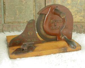 Antique ROTUNDA Bread Slicer Cutter Cast- iron Cutting Slicing Machine Germany