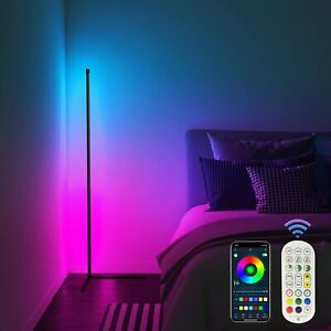 Dreamcolor LED Corner Floor Lamp Bluetooth RGB Bed Room Light with Remote Modern
