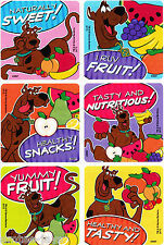 Scooby Doo Fruity Snacks Scratch n Sniff Stickers  x 6 -Rewards,Favours,Teacher