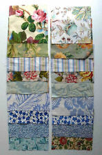 Set of 18 patchwork quilting squares   18cm x 18cm