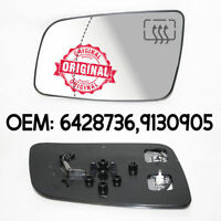 Left Wing Mirror Wide Angle Heated Glass Base For Opel Vauxhall Astra G 98-09