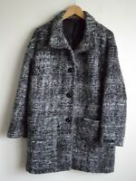 M&S COLLECTION LADIES WOOL/MOHAIR BLEND BOUCLE OVERSIZED COAT SIZE 14
