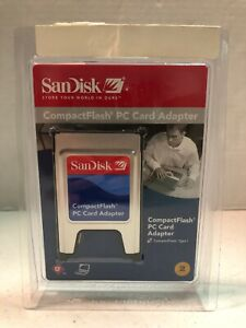 SanDisk PC Card Adapter CompactFlash PCMCIA (SDAD-38-A10) - NEW