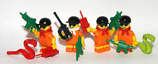 4 JOKER'S or MAD HATTER'S HENCHMEN - LEGO MINIFIGURES CUSTOM WEAPON GOTHAM CITY