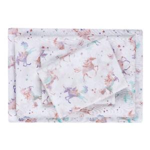 NEW Unicorns Stars Sheet Set Twin/Twin XL Horses Soft Kids Bedding Your Zone