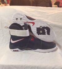 best service 43ed6 bdfa8 Nike LeBron Soldier 10 SFG USA Olympics Obsidian White-Red 844378-416 Men s