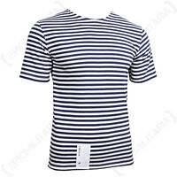 Genuine RUSSIAN Navy Blue Striped SAILOR T-Shirt Telnyashka Top Naval All Sizes