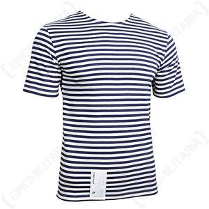 Russian Navy Telnyashka - Blue Striped T-Shirt Sailor Naval Genuine Military
