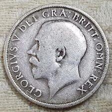 1915 King George V Silver Shilling Coin