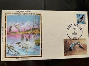 "U.S. RW55 - $10 Duck stamp FDC - gorgeous Colorano ""Silk"" Cachet - NYC postmark"