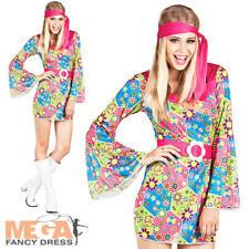 60s Costume Hippy Pace Fiore Giallo Vestito Floreale 6 8 1960s LINEA DONNA