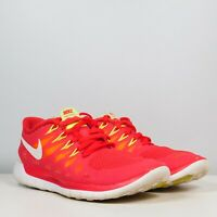 Nike Free 5.0 Womens Size 7  Red White Athletic Training Comfort Running Shoes