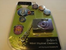 Vivitar 3 In 1 Mini Digital Camera With Key Ring and Accessory Kit New