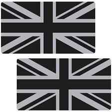 Union Jack Flag Black Silver Large 300mm Laminated Car Stickers Great Britain