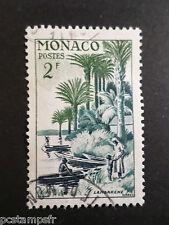 MONACO 1955, timbre 412, DEBARCADERE DE LAMBARENE, oblitéré, VF used STAMP