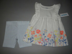 NWT, Toddler girl clothes, 5T, Carter's Dress & short set/  ~SEE DETAILS ON SIZE