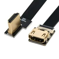 Angled HDMI A Male to Female FPV Cable for HDTV Multicopter Aerial Photography