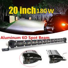 """1Pcs 20"""" 180W de aluminio 6D haz puntual 18 * Cree Coche LED Luz de Trabajo Barra de una sola fila"""