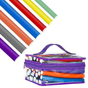 42 Pack Twist Flex Flexi Bendy Roller Rods Foam Magic Hair Curlers Curling DIY-R