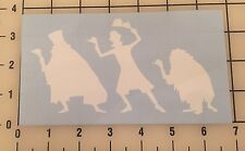 """Haunted Mansion Hitchhiking Ghost 6"""" White Vinyl Decal Sticker - Free Shipping"""