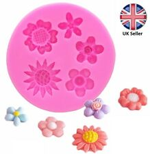 Mixed Flowers Silicone Mould Cake decoration Sunflower, Daisy, Flower, Summer