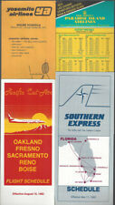 Commuter airlines timetable lot (4) [t028]