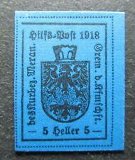 Lokalausgaben Italia Austria 1918 Merano 5h MNG Local Stamp A4P38F4